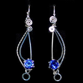 Sparkling Treble Clef Earrings