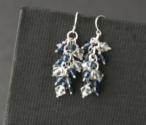 Crystal Burst Earrings Wire Jewelry Pattern