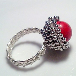 Beaded Bezel Wire Ring