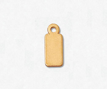 Gold Filled Chain Tags Rectangle 5x11.5mm - Pack of 2