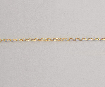 Gold Filled Cable Chain 1.0mm  - 10 Feet