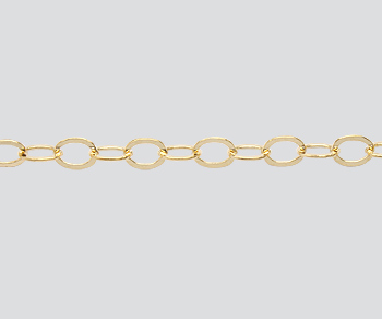 Gold Filled Cable Chain Flat 3.8x4.9mm - 10 Feet
