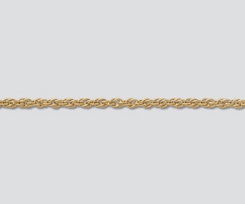 Gold Filled Chain Rope 1.37mm - 24 inches - Pack of 1