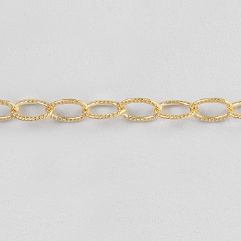 Gold Filled Corrugated Oval Cable Chain 2.7x4mm - 10 Feet