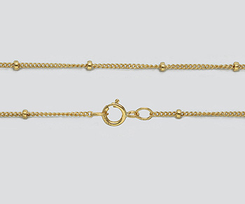 Gold Filled Chain Satellite 1mm w/1.9mm Ball - 24 inches - Pack of 1
