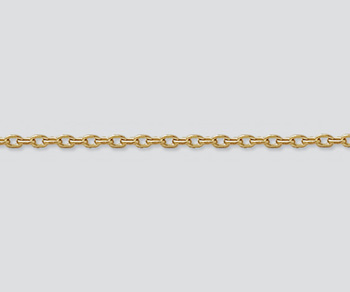 Gold Filled Drawn Cable Chain 2.2x1.5mm - 10 Feet
