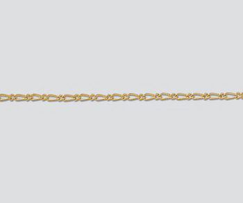 Gold Filled Figaro Chain 1.5mm - 10 Feet