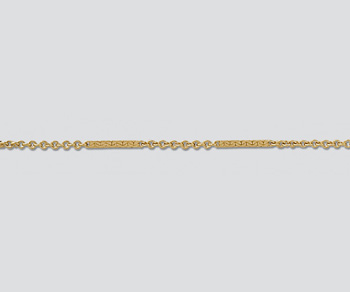 Gold Filled Imitation Bar & Link Chain 10x1.2mm - 10 Feet