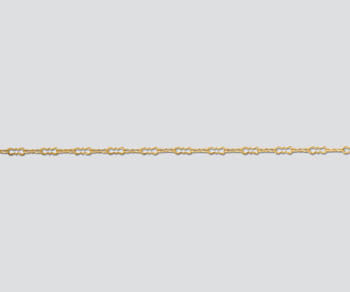 Gold Filled Krinkle Chain 5.4x1.6mm - 10 Feet