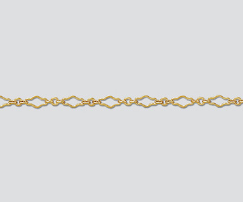 Gold Filled Krinkle Long & Short Chain 6.8x3.2mm - 10 Feet