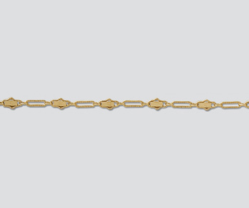 Gold Filled Oval Bar & Link Chain 5.7x2.6mm - 10 Feet