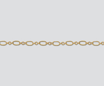 Gold Filled Oval Long & Short Chain 5x3mm - 10 Feet