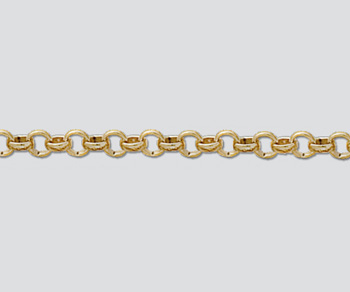 Gold Filled Rolo Chain 4mm    - 10 Feet