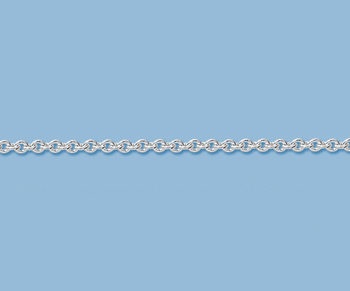 Sterling Silver Cable Chain 2.1mm - 10 Feet