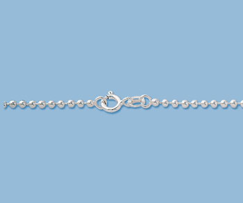 Sterling Silver Ball Chain 2mm 18 inch - Pack of 1