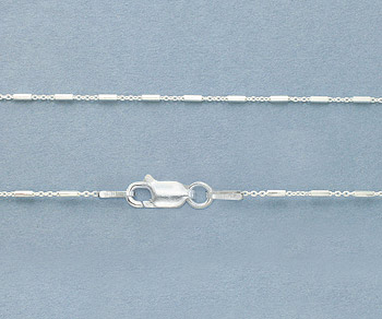 Sterling Silver Chain 1.2x3.3mm 18 inch - Pack of 1