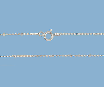 Sterling Silver Chain 1x1.5mm 18 inch - Pack of 1