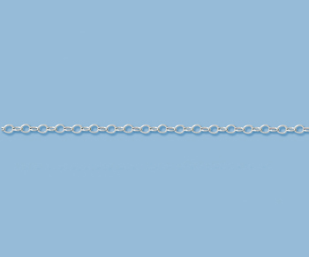 Sterling Silver Chain Flat Cable 1.3mm - 10 Feet