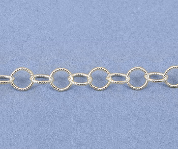 Sterling Silver Chain Round Twisted 3.5mm - 10 Feet