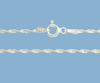 Sterling Silver Chain Twisted Magic 1.9mm 24 inch - Pack of 1