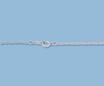 Sterling Silver Rope Chain 10R 1.25mm 24 inch - Pack of 1