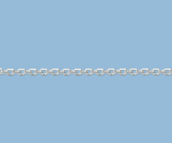 Sterling Silver Diamond Cut Drawn Cable Chain 4x3mm - 10 Feet