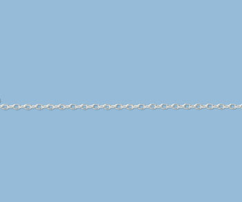 Sterling Silver Drawn Cable Chain 2.2x1.5mm - 10 Feet