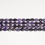 Amethyst 10x14mm Oval Beads - 8 Inch Strand