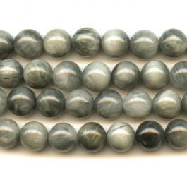 Cat's Eye 10mm Round Beads - 8 Inch Strand