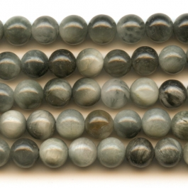 Cat's Eye 6mm Round Beads - 8 Inch Strand