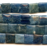 Blue Apatite 12mm Square Beads - 8 Inch Strand