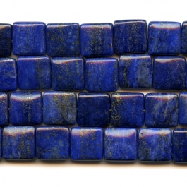 Lapis 12mm Square Beads - 8 Inch Strand