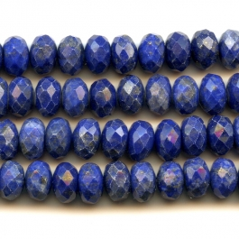 Lapis 8mm Faceted Rondelle Beads - 8 Inch Strand