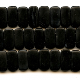 Matte Onyx 10x20mm Double Drilled Beads - 8 Inch Strand