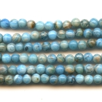Blue Crazy Lace Agate 4mm Round Beads - 8 Inch Strand
