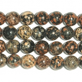 Mexican Red Snowflake Jasper 8mm Round Beads - 8 Inch Strand
