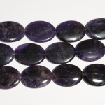 Amethyst 30x40mm Oval Beads - 8 Inch Strand