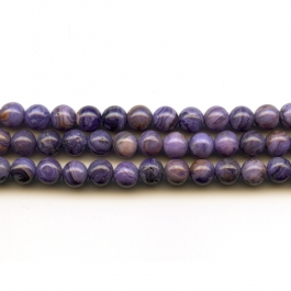 Purple Crazy Lace Agate 6mm Round Beads - 8 Inch Strand