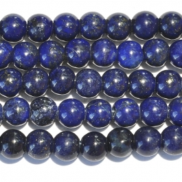 Lapis 8mm Round Large Hole Beads - 8 Inch Strand