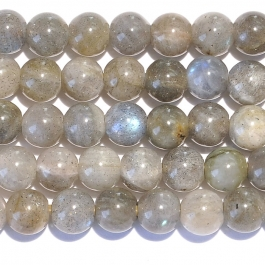 Labradorite 8mm Round Large Hole Beads - 8 Inch Strand