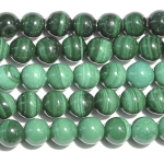 Malachite 6mm Round Beads - 8 Inch Strand
