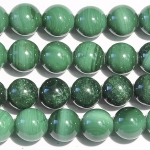 Malachite 8mm Round Beads - 8 Inch Strand