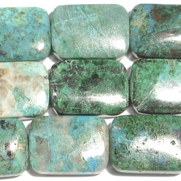 Chrysocolla 13x18mm Rectangle Beads - 8 Inch Strand