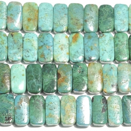 Chrysocolla 5x10mm Double Drilled Beads - 8 Inch Strand