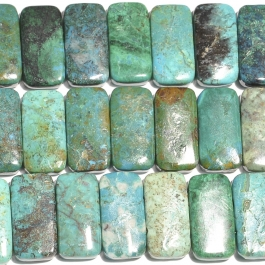 Chrysocolla 10x20mm Double Drilled Beads - 8 Inch Strand