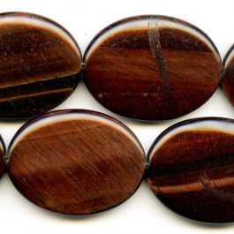 Red Tiger Eye 30x40mm Oval Beads - 8 Inch Strand