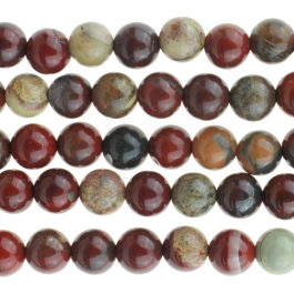 Apple Jasper 6mm Round 8 inch Strand