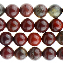 Apple Jasper 8mm Round 8 inch Strand