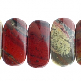 Apple Jasper 10x20mm Double Drill 8 inch Strand