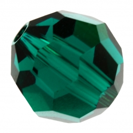 4mm Emerald 5000 Round Swarovski Crystal Bead - Pack of 12